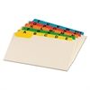 Laminated Tab Index Card Guides, Alpha, 1/5 Tab, Manila, 5 x 8, 25/Set