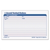 TOPS Avoid Verbal Orders Manifold Book, 6 1/4 x 4 1/4, 2-Part Carbonless, 50 Sets/BK