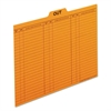 Pendaflex Out/Substitution Guides, 1/5 Top Tab, 11 pt Stock, Letter, Salmon, 100/Box