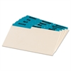 Laminated Tab Index Card Guides, Monthly, 1/3 Tab, Manila, 4 x 6, 12/Set