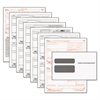 TOPS W-2 Tax Form/Envelope Kits, 8 1/2 x 5 1/2, 6-Part, Inkjet/Laser, 24 W-2s & 1 W-3