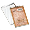 Second Nature Subject Wirebound Notebook, Narrow, 3 x 5, White, 50 Sheets