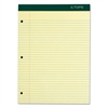 TOPS Double Docket Writing Pad, 8 1/2 x 11 3/4, Canary, 100 Sheets