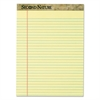 Second Nature Recycled Pads, 8 1/2 x 11 3/4, Canary, 50 Sheets, Dozen