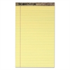 TOPS Second Nature Recycled Pads, 8 1/2 x 14, Canary, 50 Sheets, Dozen