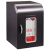 Cube Mini Coffee Station Refrigerator, 0.21 Cu. Ft, Black w/Chrome Handle