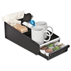 Mind Reader Vesta Condiment Organizer W/Drawer, 7 1/8 x 14 7/8 x 4 7/8, Blk/Chrome