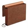 Premium Reinforced Expanding Wallet, 1 Pocket, Legal, Brown