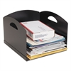 Steelmaster Big Stacker Inbox Desk Tray, Single Tier, 11 x 12 x 8, Black
