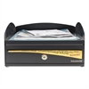 Steelmaster LockIt Inbox Desk Tray, Single Tier w/Locking Box, 11 x 14 1/4 x 5 7/8, Black