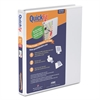 "Stride QuickFit Round-Ring View Binder, 1"" Capacity, White"