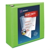 "Avery Heavy-Duty View Binder w/Locking EZD Rings, 4"" Cap, Chartreuse"