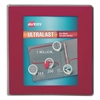 "UltraLast View Binder w/1-Touch Slant Rings, 11 x 8 1/2, 1 1/2"" Cap, Red"