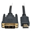 Tripp Lite P566-006 6ft HDMI to DVI Gold Digital Video Cable HDMI-M / DVI-M, 6'