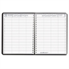 Four-Person Group Practice Daily Appointment Book, 8 x 11, Black, 2017