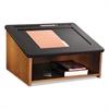 Safco Tabletop Lectern, 24w x 20d x 13-1/2h, Medium Oak/Black