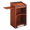 Safco Executive Mobile Lectern, 25-1/4w x 19-3/4d x 46h, Cherry