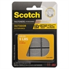 "Scotch Super Duty Fasteners, 7/8"" x 7/8"", Clear, 6/Pack"