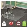 deflecto SuperMat Frequent Use Chair Mat, Medium Pile Carpet, Beveled, 45x53 w/Lip, Clear