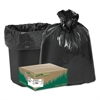 Earthsense Commercial Recycled Can Liners, 7-10gal, .85mil, 24 x 23, Black, 500/Carton