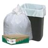 Recycled Tall Kitchen Bags, 13-16gal, .8mil, 24 x 33, White, 150 Bags/Box