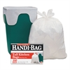 Super Value Pack Trash Bags, 13gal, 0.6mil, 23 3/4 x 28, White, 100/Box