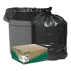 Earthsense Commercial Recycled Can Liners, 56gal, 2mil, 43 x 47, Black, 100/Carton