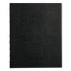 NotePro Notebook, 9 1/4 x 7 1/4, White Paper, Black Cover, 75 Ruled Sheets