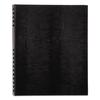 NotePro Notebook, 11 x 8 1/2, White Paper, Black Cover, 100 Ruled Sheets