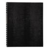 NotePro Notebook, 11 x 8 1/2, White Paper, Black Cover, 150 Ruled Sheets