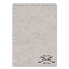 Porta Desk Notebook, College/Margin Rule, 8 1/2 x 11 1/2, White, 80 Sheets