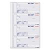 Rediform Hardcover Numbered Money Receipt Book, 6 7/8 x 2 3/4, Three-Part, 200 Forms