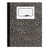 Composition Book, Wide/Margin Rule, 10 x 7 7/8, White, 80 Sheets