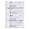 Money Receipt Book, 7 x 2 3/4, Carbonless Triplicate, 100 Sets