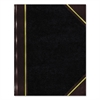 Texthide Record Book, Black/Burgundy, 300 Green Pages, 14 1/4 x 8 3/4