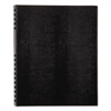 NotePro Notebook, 11 x 8 1/2, White Paper, Black Cover, 75 Ruled Sheets