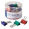 Officemate Binder Clips, Metal, Assorted Colors, Medium, 24/Pack