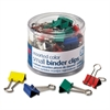 "Binder Clips, Metal, 3/4"", Assorted Colors, 36/Pack"