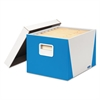 Bankers Box Premier STOR/FILE Medium-Duty Storage Boxes, Letter/Legal, White/Blue, 2/Pack