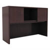 Alera Valencia Series Hutch with Doors, 47w x 15d x 35 1/2h, Mahogany