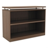 Alera Alera Sedina Series Bookcase, Two-Shelf, 36w x 15d x 30h, Modern Walnut