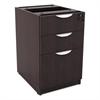 Alera Valencia Box/Box/File Full Pedestal, 15 5/8w x 20 1/2d x 28 1/2h, Espresso