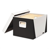 Bankers Box Premier STOR/FILE Medium-Duty Storage Boxes, Letter/Legal, White/Black, 2/Pack