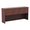 Alera Valencia Series Hutch with Doors, 64 3/4w x 15d x 35 1/2h, Medium Cherry