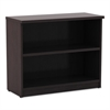 Valencia Series Bookcase, Two-Shelf, 31 3/4w x 14d x 29 1/2h, Espresso
