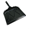 "Metal Dust Pan, 12"" Wide, 2"" Handle, Black, 12/Carton"