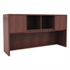 Alera Valencia Series Hutch with Doors, 58 7/8w x 15d x 35 1/2h, Medium Cherry