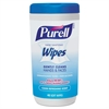 PURELL Hand Sanitizing Wipes, 5 7/10x7 1/2, Clean Refreshing Scent, 40/Canister, 6/Crtn