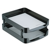 Officemate 2200 Series Front-Loading Desk Tray, Two Tiers, Plastic, Letter, Black