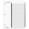 Cardinal Traditional OneStep Index System, 31-Tab, 1-31, Letter, White, 31/Set
